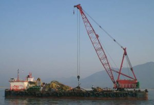 Sumitomo 90t Revolving Crane Barge for sale